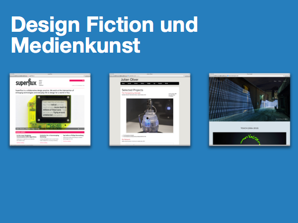 Design Fiction und Medienkunst