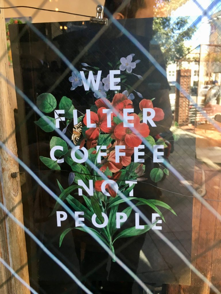 we filter coffee not people