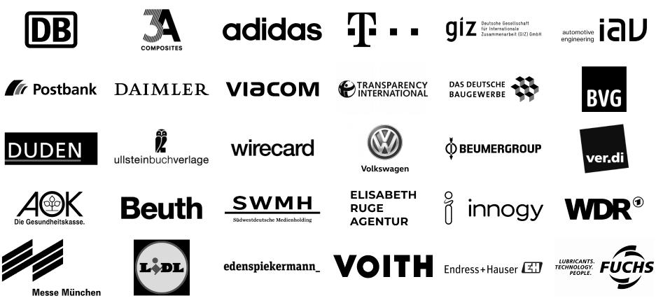 Logos von Kunden
