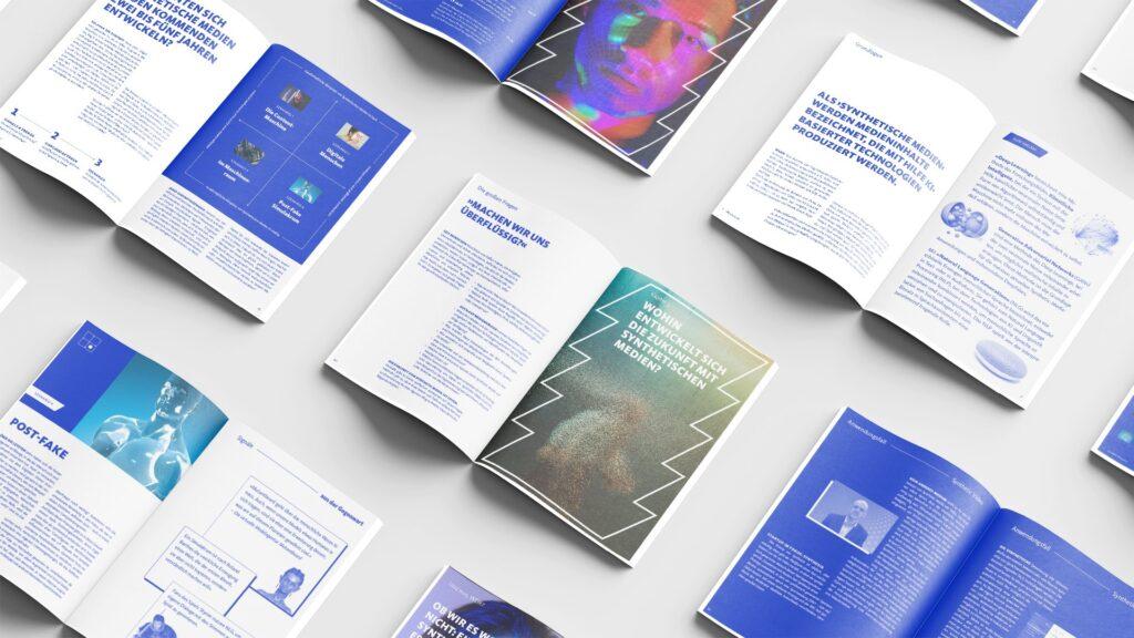 Seiten aus dem Zukunftsreport Synthetische Medien